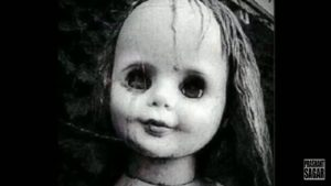 Small girl found a creepy doll from backyard